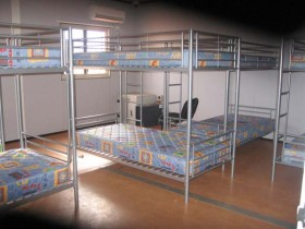 Curtin IDC beds in dormitory