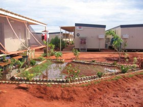 Curtin IDC garden in compound